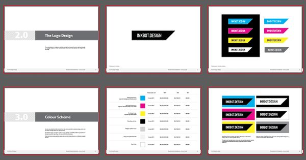 Free brand guidelines template logo presentation pdf for Free brand guidelines template