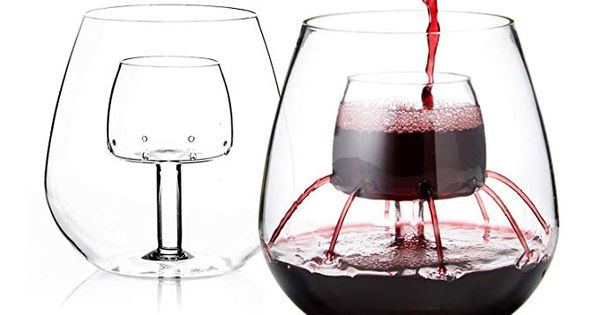 Stemless Aerating Wine Glasses By Chevalier Collection Set Of 2 Wine Aerator Aerating Wine Glasses Wine Aerators Wine