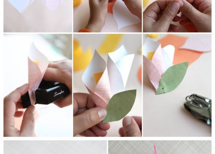 paper flower - gift wrap