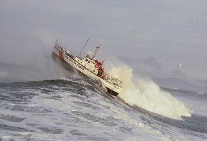 Coast Guard in action on the high seas