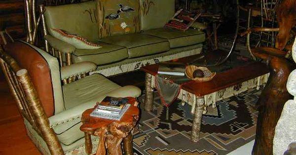 Amazing adirondack living room furniture with loon motif - Adirondack style bedroom furniture ...