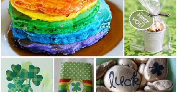 40 crafts for st. patrick's day, rainbow pancakes!!!