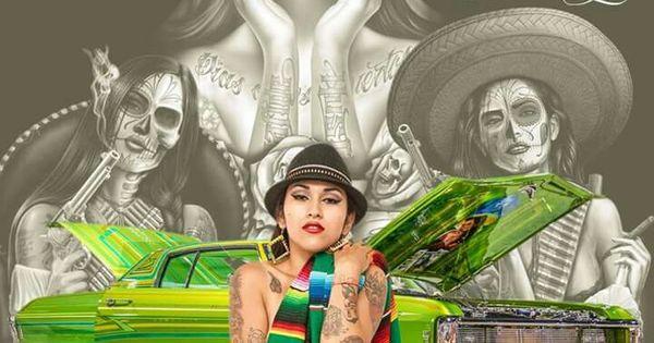 Chola Chicanoart Art Arte  Gangster / Cholo Cholas Pinterest