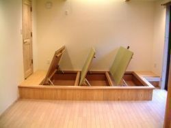 床下収納 open 床下収納 インテリア 収納 小 上がり 和室