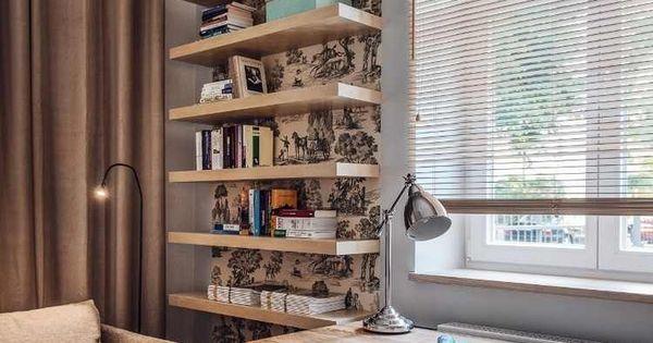 aménagement-bureau-étagères-bois-fond-toile-Jouy.jpg (750×1065 ...