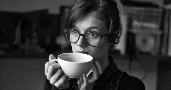 Oh yeah. Love the nerdy/cute plus coffee mug look. Add a cat,