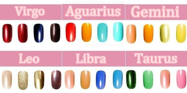 Pick The Right Nail Polish Color Based On Your Zodiac Sign