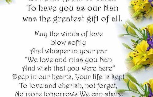 In Loving Memory Poems | Nan In Loving Memory #RIP #grief ...