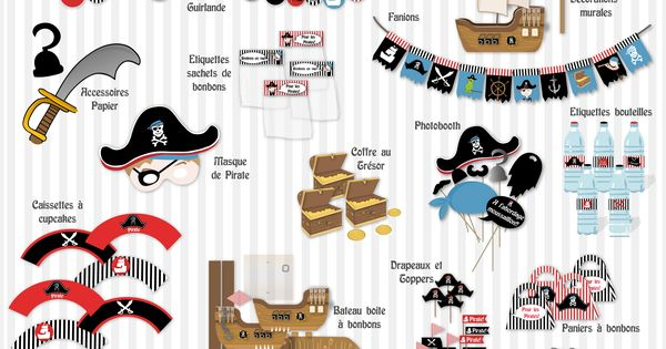 un anniversaire pirate id e d co kit imprimer