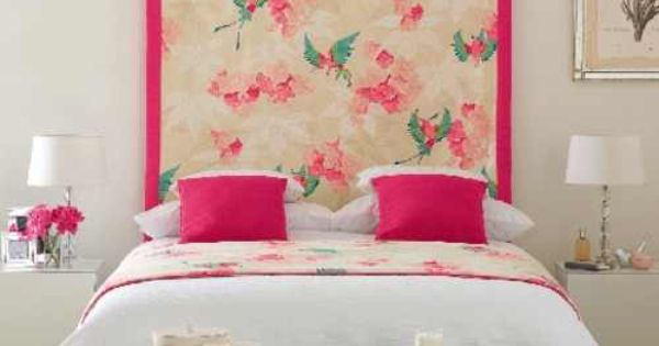 Hang fabric behind bed instead of a headboard home - What to use instead of a headboard ...