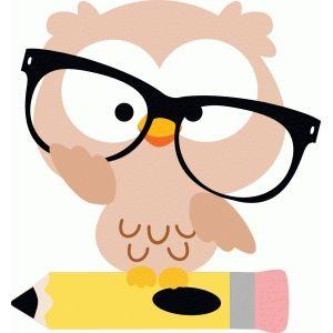 Owl with pencil | Owl clip art, Art, Clip art