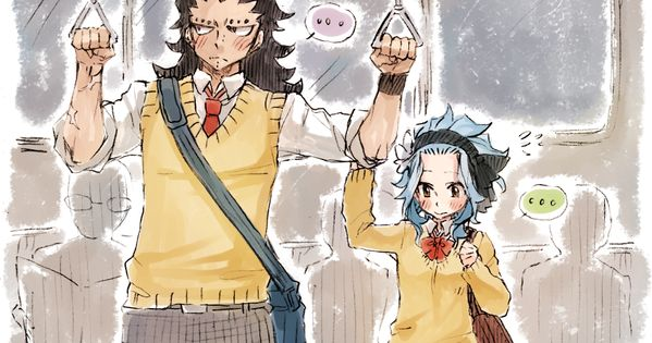 """"""" on the ride home """" high-school AU Gajeel and Levy by"""