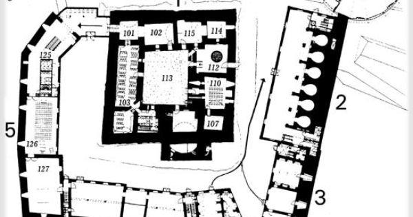 Hämeen linnan pohjakartta 1. kerros | castles | Pinterest