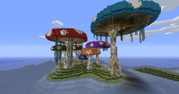 mushroom island 600x3181 40 Outstanding Minecraft ...