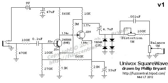 Modded Univox Square Wave Fuzz (schem) | Pedal schems | Diy ... on sincgars radio configurations diagrams, hvac diagrams, troubleshooting diagrams, battery diagrams, gmc fuse box diagrams, electrical diagrams, electronic circuit diagrams, friendship bracelet diagrams, engine diagrams, switch diagrams, series and parallel circuits diagrams, transformer diagrams, pinout diagrams, led circuit diagrams, motor diagrams, lighting diagrams, smart car diagrams, honda motorcycle repair diagrams, internet of things diagrams,