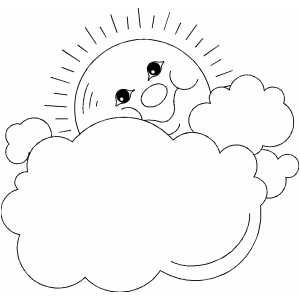 Sun And Clouds Frame Printable Coloring Page Free To Download And
