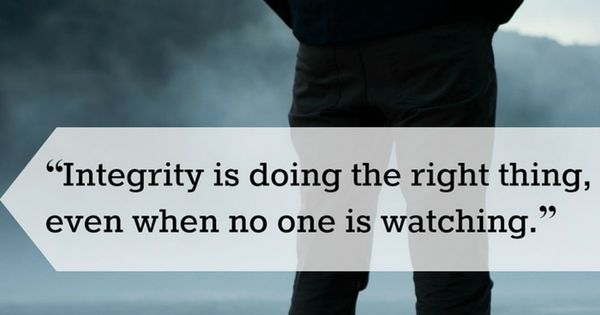 Quot Integrity Is Doing The Right Thing Even When No One Is Watching Quot C S Lewis Catholic