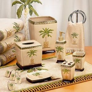 Take The Palms To The Bath With Images Palm Tree Bathroom
