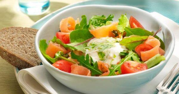 Queen Lu 301 Moved Permanently: Frisse Salade Met Gerookte Zalm En Yoghurt Dressing