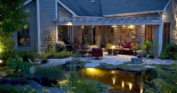 gartenteich anlegen gartengestaltung terrasse gartenbeleuchtung - gartenteiche an terrasse