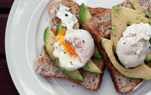 Avocados + poached egg breakfast