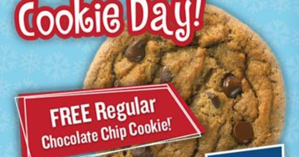 Great American Cookies Is Celebrating National Cookie Day 12 4 13 And You Re Invited To Join Us American Cookie National Cookie Day Chocolate Chip Cookies