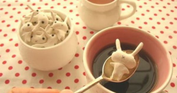 bunny sugar cubes - adorable! food