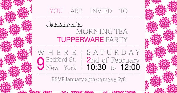 Tupperware Party Invitation Fonts Used St Marie Helvetica Neue – Tupperware Party Invitation