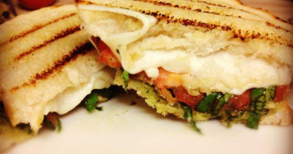 Sourdough bread, Heirloom tomatoes and Pesto on Pinterest