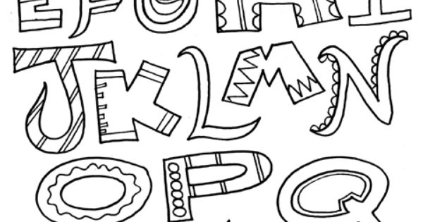 Great Alphabet Coloring Pages For Adults And Kids