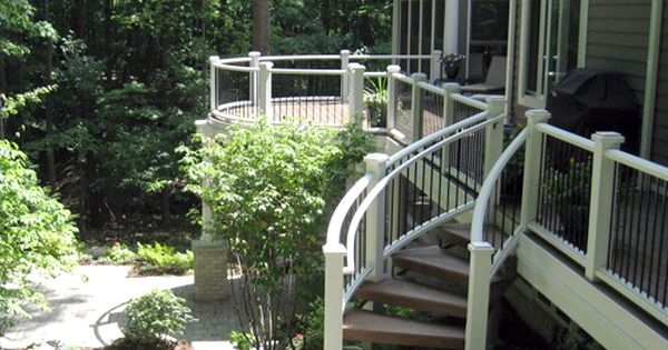 Curved Deck Stairs Picture 006 Raeny Curved Deck Deck Steps Backyard