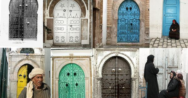 Des portes de sidi bou sa d tunisie portes fen tres for Decoration porte sidi bou said