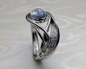 Fluid Organic Freeform Ladies Ring With Black Star Sapphire Metamorphosis Jewel Art Nouveau Engagement Ring Art Nouveau Ring Custom Made Engagement Rings