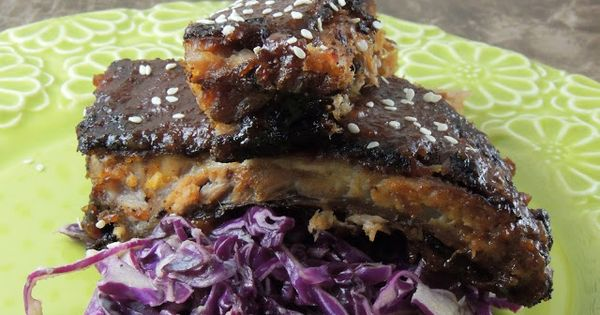 Leave a Happy Plate: Asian Baby Back Ribs with Pineapple Ginger BBQ ...