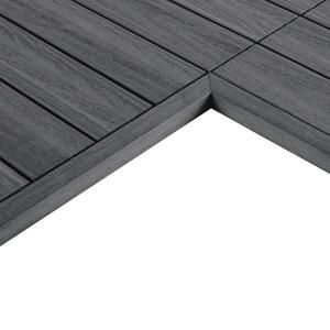 Newtechwood 1 12 Ft X 1 Ft Quick Deck Composite Deck Tile Inside Corner Fascia In Westminster Gray 2 Pieces Box Us Qd It Zx Gy Deck Tile Composite Decking Diy Deck