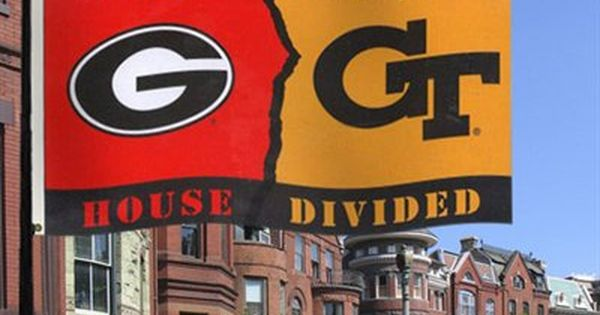 Gatech Georgia Georgia Tech House Divided Flag Me And J Will Have To Have This For A Wedding Gift Please Georgia Tech Tech Clothing Yellow Jacket