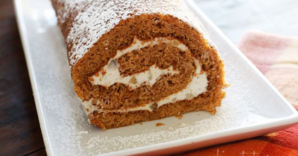 Skinny Pumpkin roll. So good for a Thanksgiving Day treat