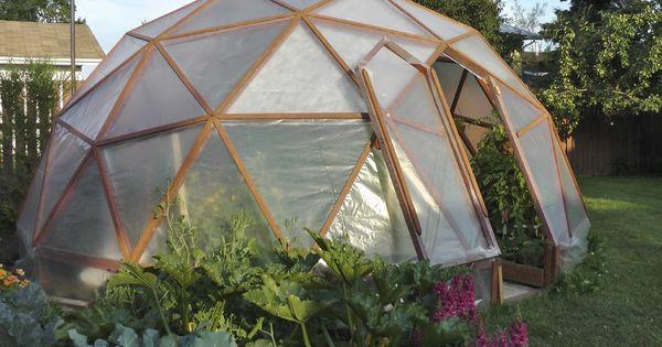 Noord huis tuin hoe een geodome kas te bouwen moestuin pinterest tuin kassen en tuinieren - Hoe om te beseffen een tuin ...
