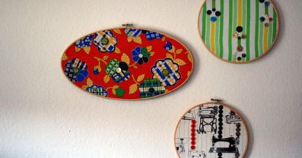 Vintage Button Wall Decor : How to make wall art with vintage fabric and buttons