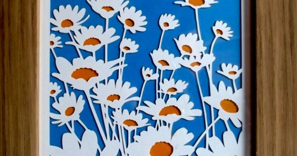 Summer Daisies Paper Cutting by CraftyVectors on Etsy,
