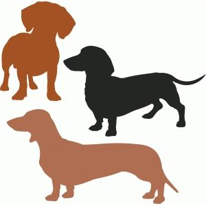 Silhouette Design Store Dachshund Dog Set Decorating With