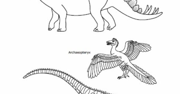 Free Printable Dinosaurs From The Jurassic Period To Color