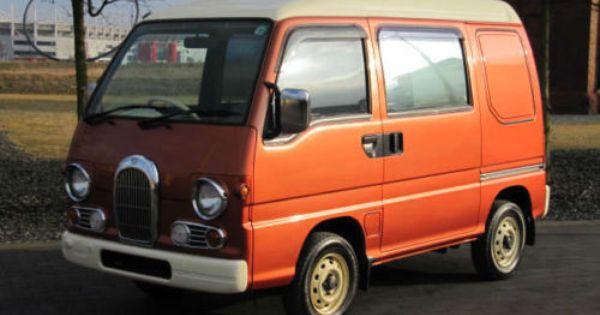 Subaru Sambar Vintage Van Ideal Mobile Tea Van Vintage Promotion Advertising Subaru Vintage Vans Kei Car