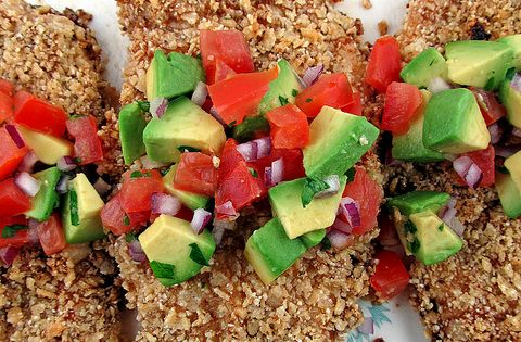 Tortilla Chicken with Avocado Salsa chicken recipe