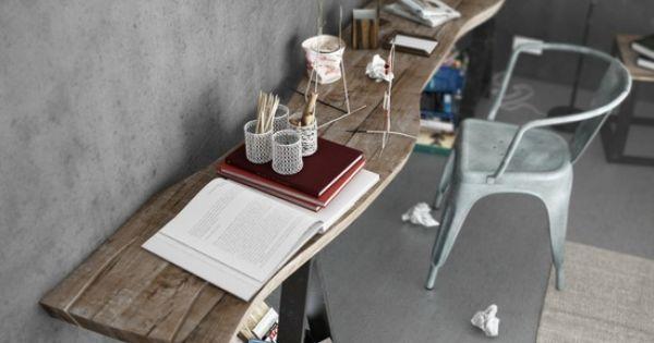 Industrial style home office happy office pinterest for Escritorios de hogar