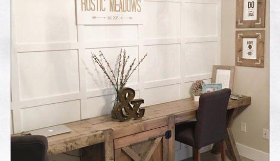 Beautiful farmhouse style desk ideas pinterest for Escritorios rusticos para oficina