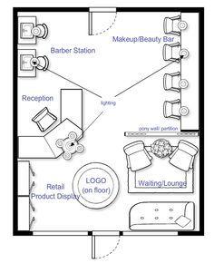 Beauty Salon Floor Plan Layouts Google Search Nail Salon