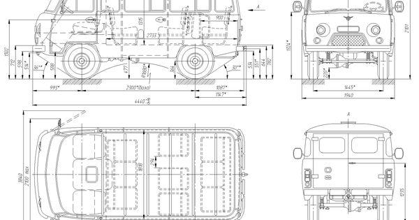 uaz 452 blueprint