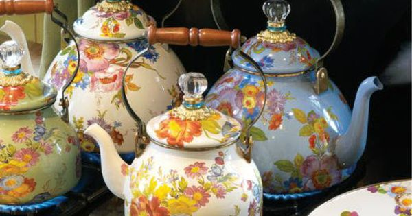 Flower Market Tea pot