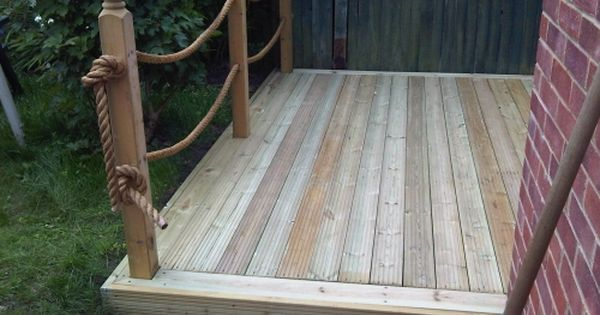 rope fence decking | For the Home | Pinterest | Rope fence ...
